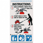 Extinguisher Operating Labels