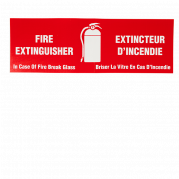 Extinguisher Cabinet Decals