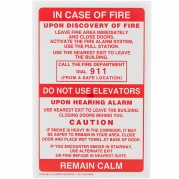In Case of Fire Labels