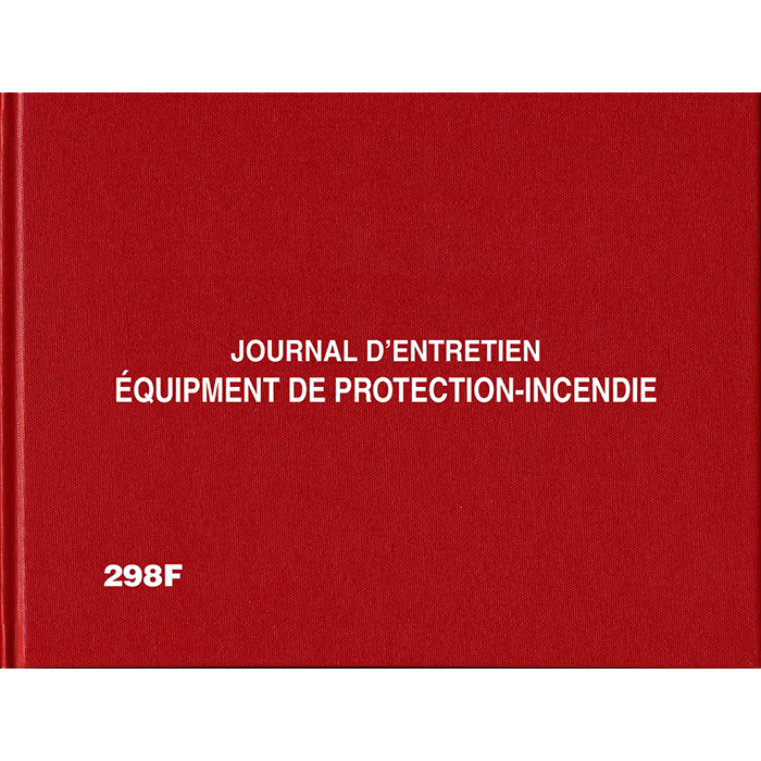 2 Year Fire Protection Log Book, French