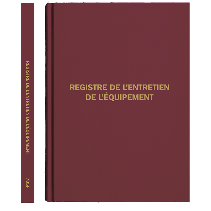 Equipment Log Book, French
