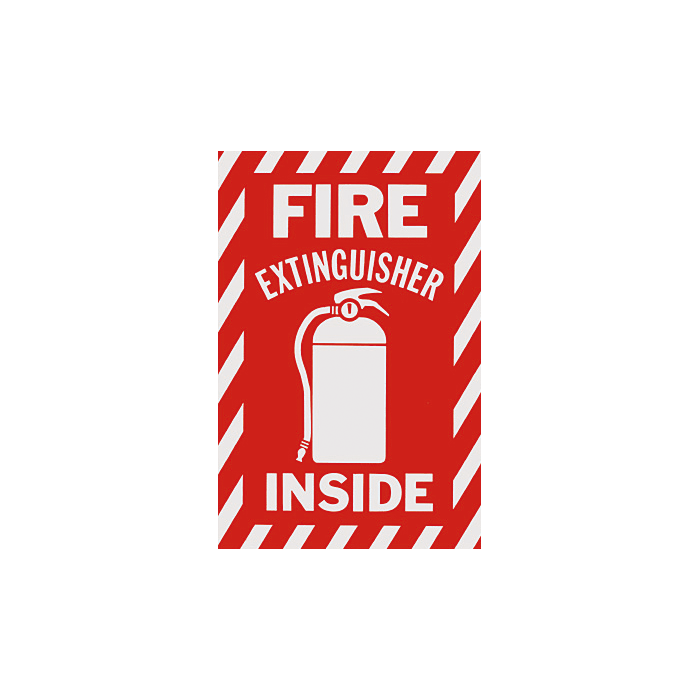 """Fire Extinguisher Inside"", 6\"