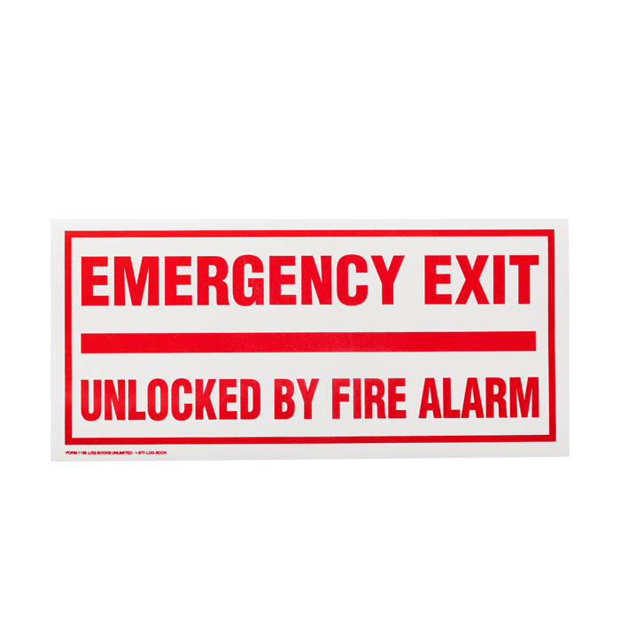 Emergency Exit Unlocked By Fire Alarm
