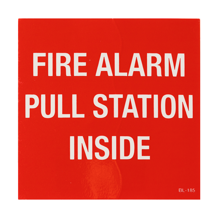 """Fire Alarm Pull Station Inside"", 4\"