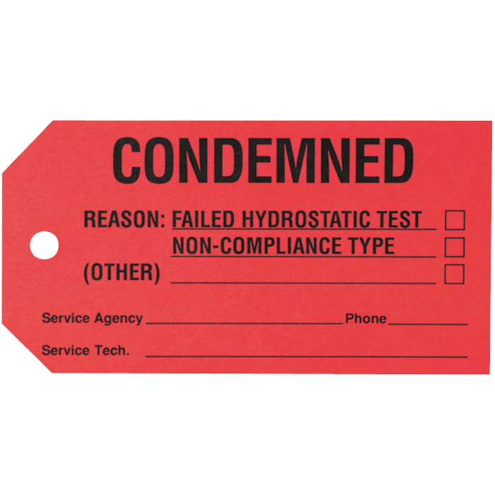 Condemned Tag
