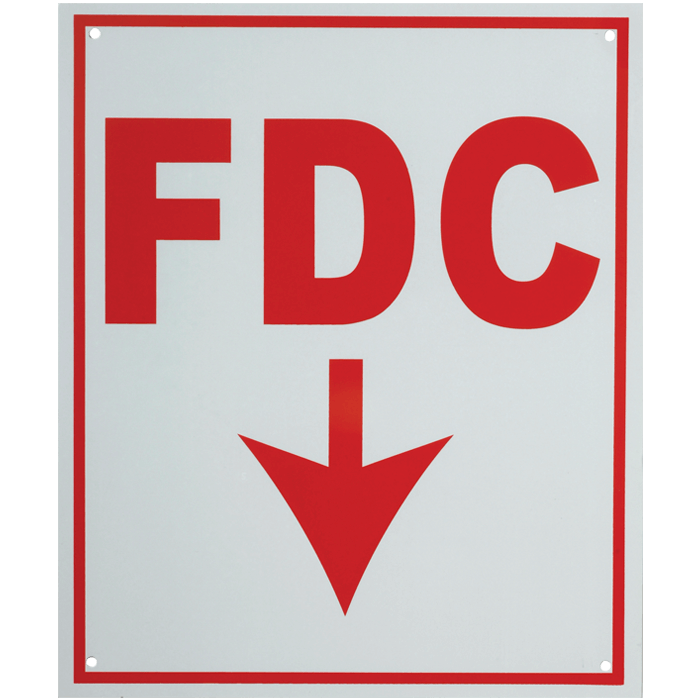"""FDC"" w/ Arrow, 4\"