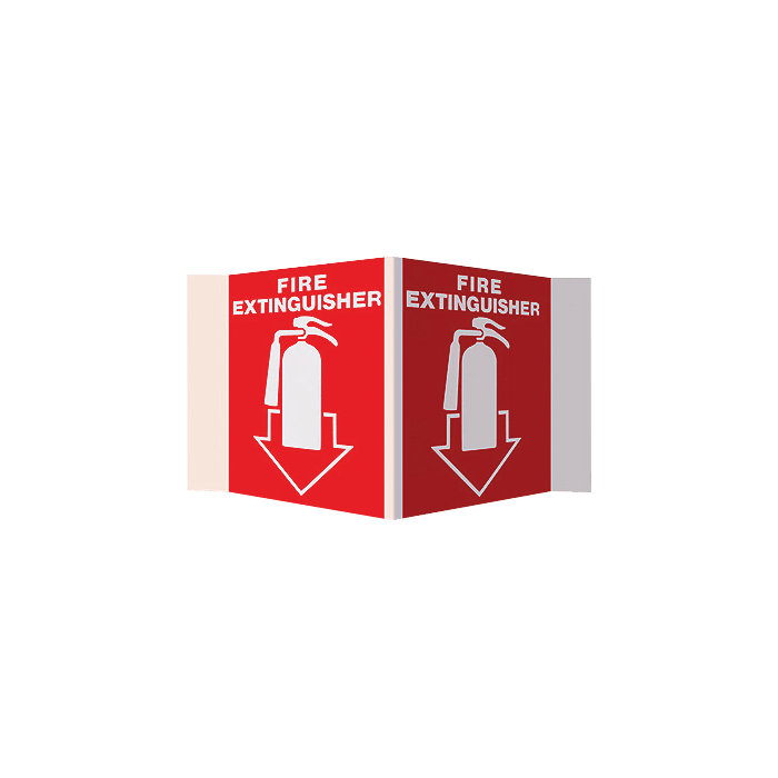 Fire Extinguisher 3D Stand-Out Sign