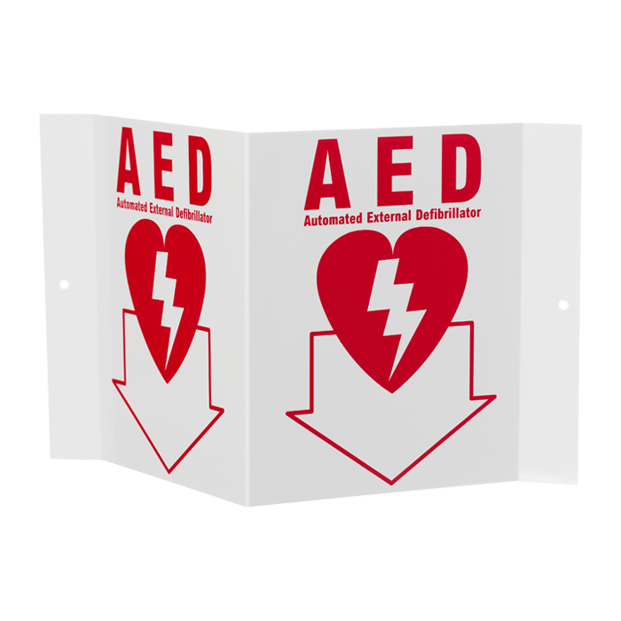 """AED"" Stand-Out Arrow, 5\"