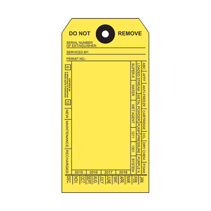 Yellow Custom Service Tag