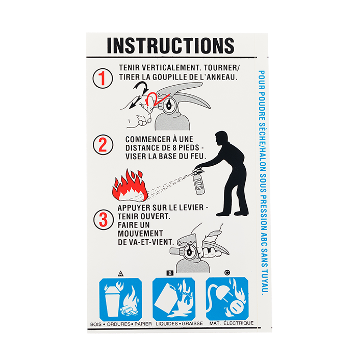 ABC Extinguisher w/Nozzle Instruction - French version