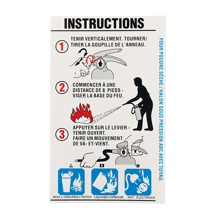 BC Extinguisher w/Nozzle Instruction - French version