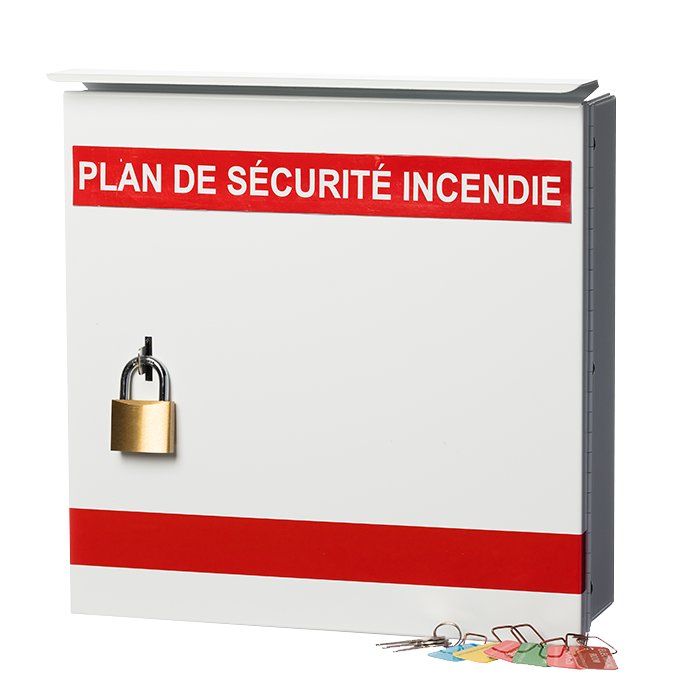 Fire Safety Plan Box, French, Mikor Lock