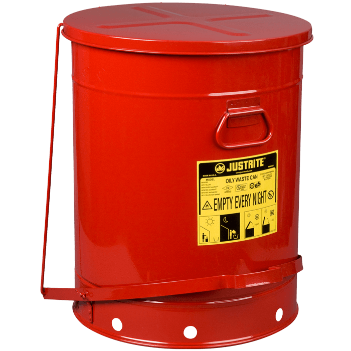 Oily Waste Can, 21 gallon (80L), foot-operated self-closing cover