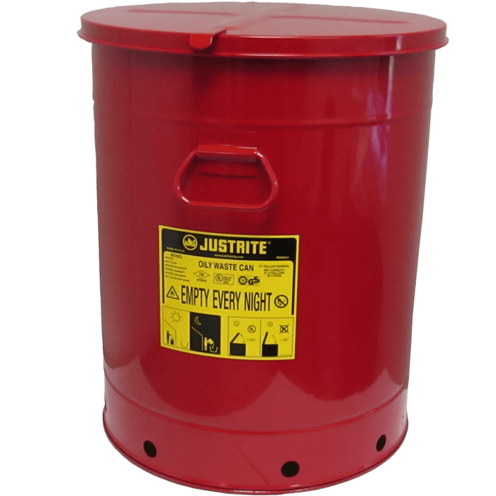 Oily Waste Can, 21 gallon (80L), hand-operated cover
