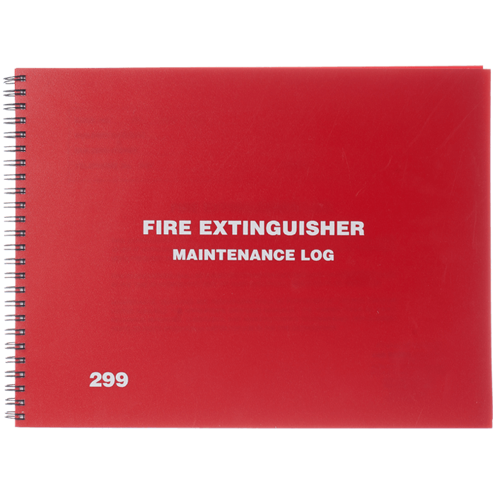 Fire Extinguisher Log Book, English