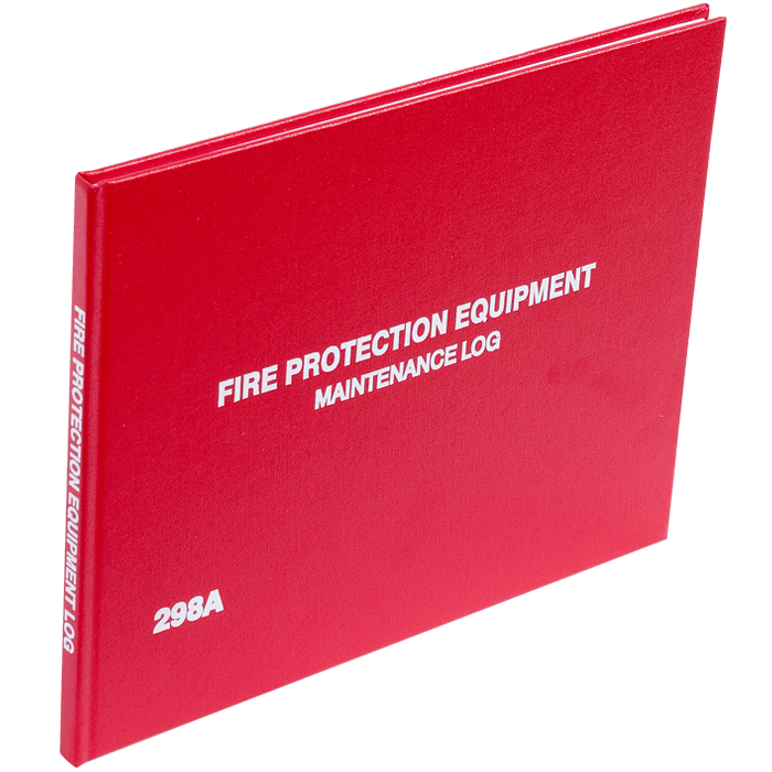 2 Year Fire Protection Log Book, English