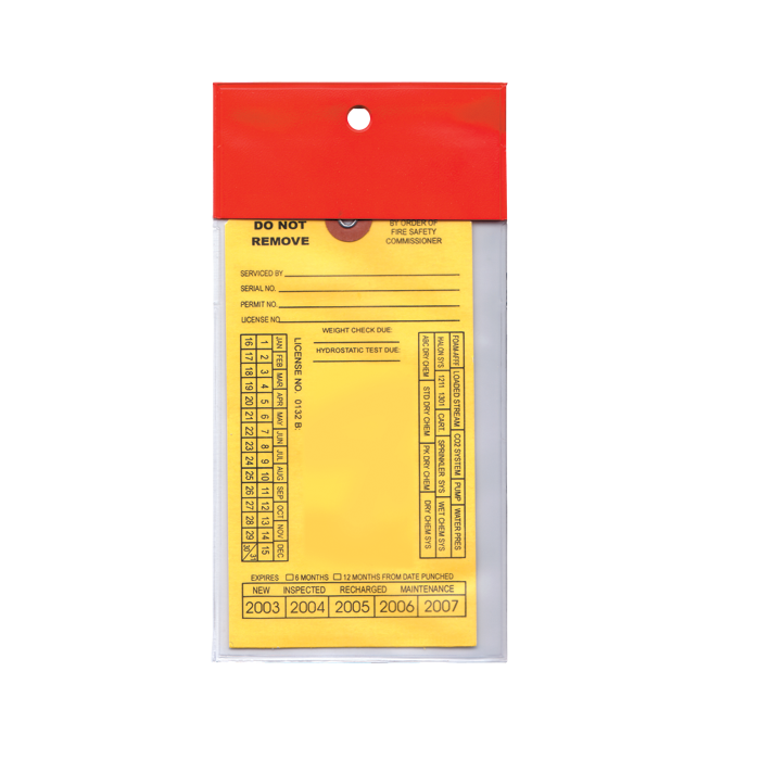 Heavy Duty Red Flap Tag Cover