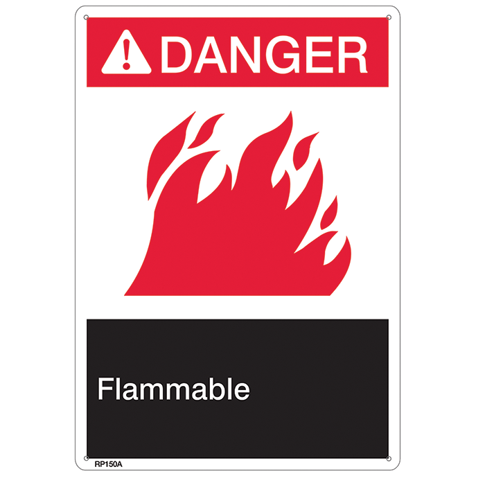 ANSI Z535 Danger Flammable