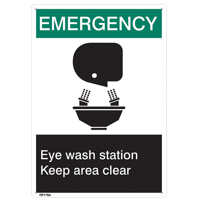 """Emergency…Eye Wash Keep Area Clear"""
