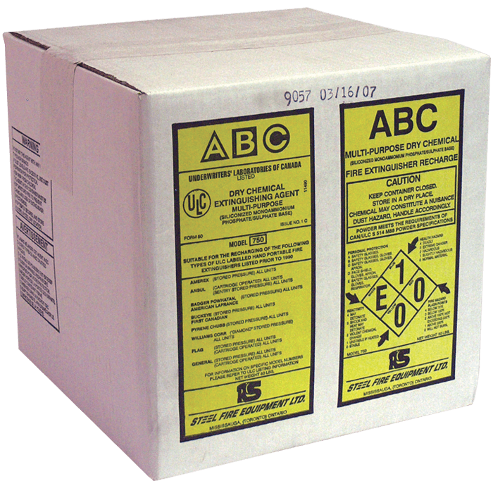 ULC Classified ABC Dry Chemical, 50 lb Carton