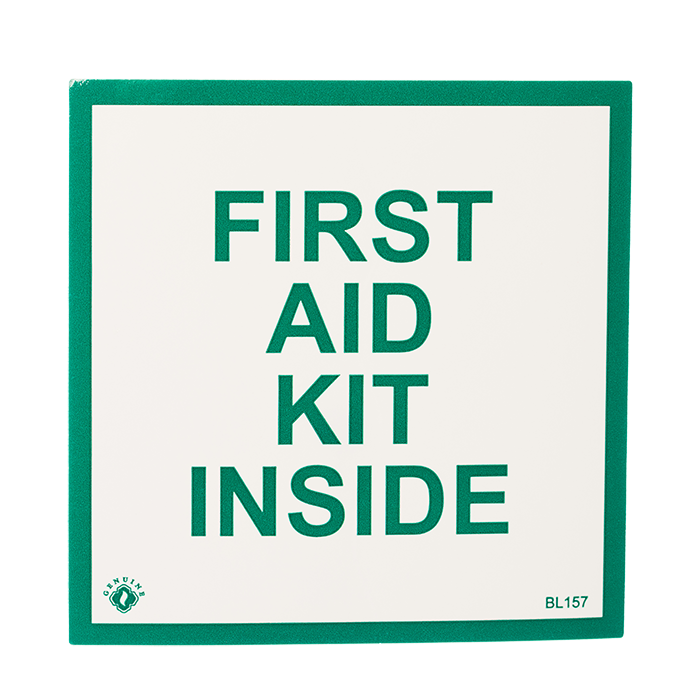 """First Aid Kit Inside"", 4\"