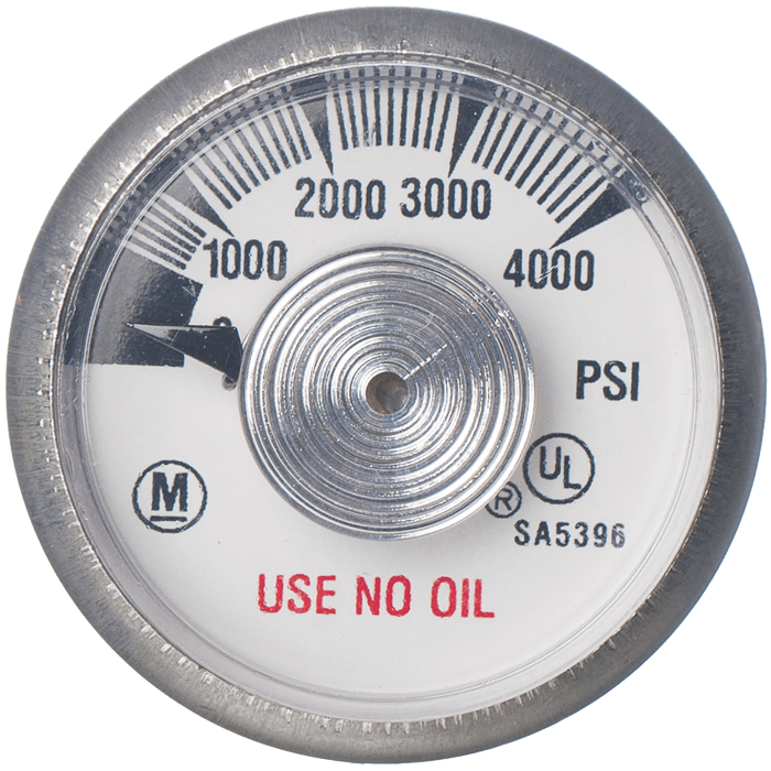 4000 PSI Gauge for N100-4 and N200QR4 Valve