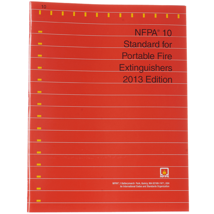 NFPA 10: Standard for Portable Fire Extinguishers, 2013 ed.