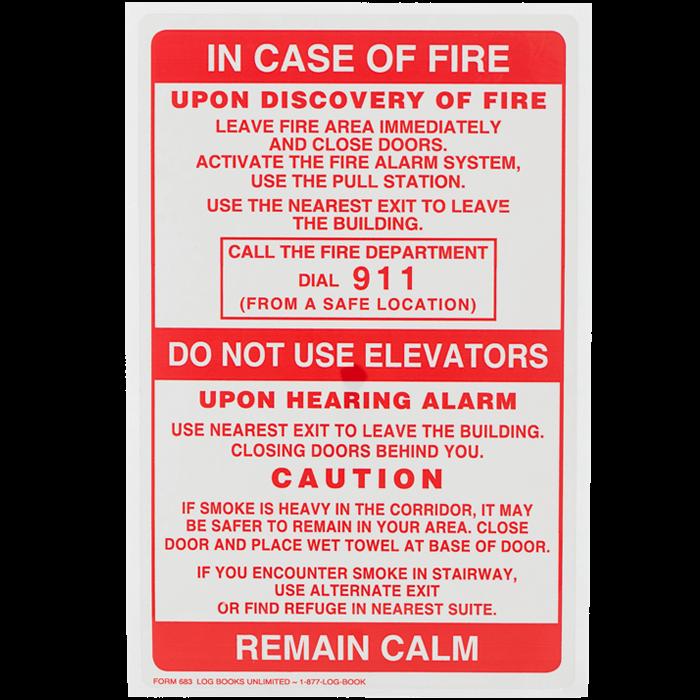 fire alarm test log book