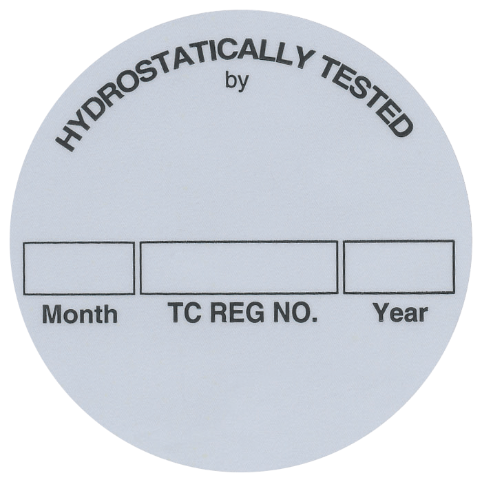 Composite Cylinder Test Labels