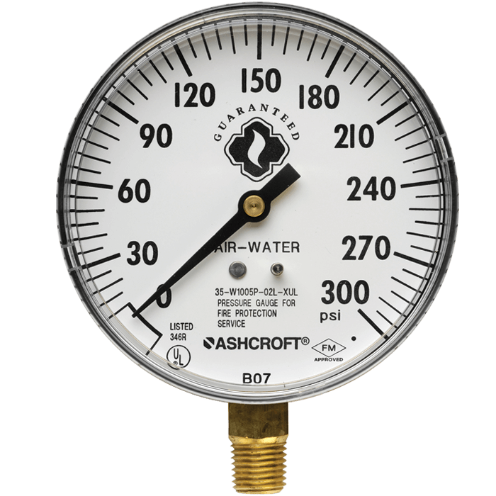 Air/Water Gauge, 0-300 psi
