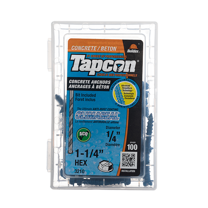 Tapcon Self-Tapping Anchors, Pkg of 100